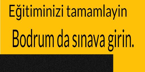 BODRUM TUĞSEM SRC KURSU