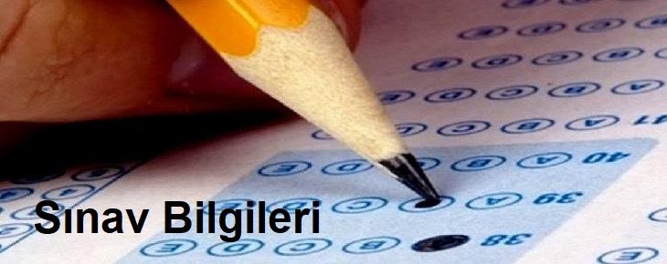 Sınav Bilgileri